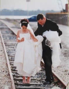 wedding on train tracks