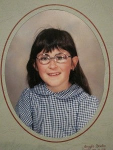 school photo with glasses