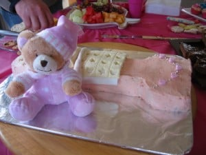 number one first birthday cake girl