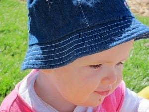 baby with hat on