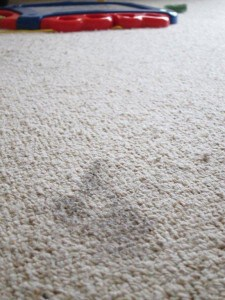 water stain on carpet
