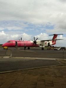 pink Qantaslink plane Dash 8