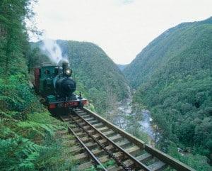 Strahan, West Coast Wilderness Railway, train,
