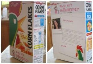Personalised Kelloggs cereal box Three Li'l Princesses
