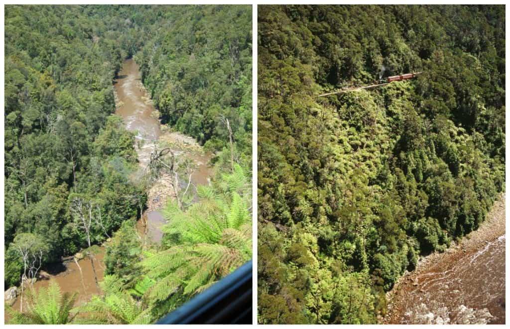 WEst Coast Wilderness Railway, gorge, King River,