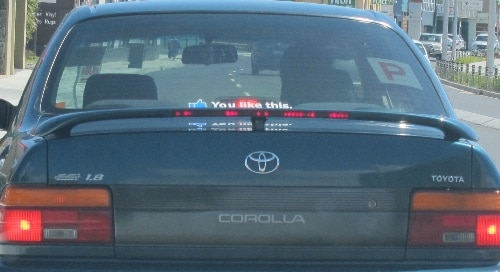Facebook You Like This car sticker