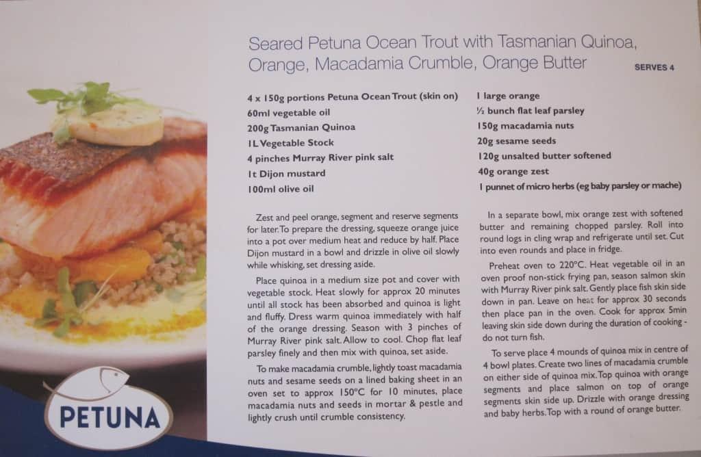 Petuna Seafood recipe