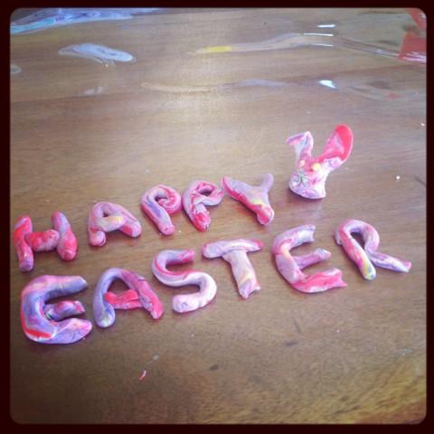 Happy Easter PlayDoh