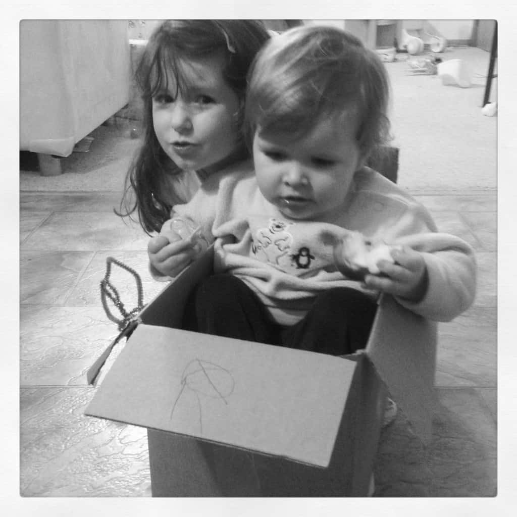 girls in box