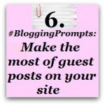 Blogging Prompt Guest posts