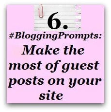 Blogging Prompt Guest posts
