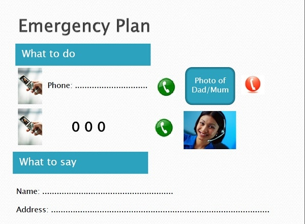 Emergency with phone number first