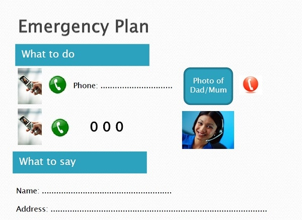 Emergency plan with call button first