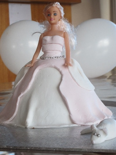 Dolly Varden Cinderella birthday cake