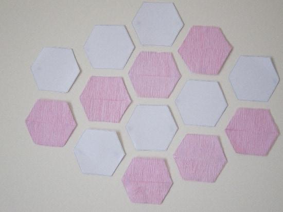 Hexagonal Wall Art on wall