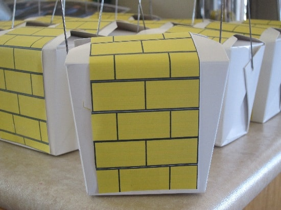 Wizard of Oz take home party boxes